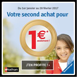Votre second achat Ravensburger / Nathan pour 1euro*
