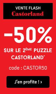-50% sur votre 2ème puzzle Castorland code CASTOR50